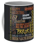 Happy Haunting Coffee Mug by Debbie DeWitt