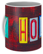 Happy Holidays License Plate Art Letter Sign Coffee Mug by Design Turnpike