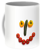Happy Veggie Face Coffee Mug by Olivier Le Queinec