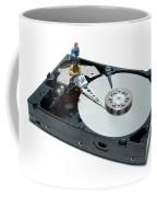 Hard Drive Backup Coffee Mug by Olivier Le Queinec