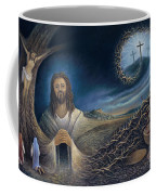 He Knew Yet He Went Through Coffee Mug by Ricardo Chavez-Mendez in Collaboration with Joyce Hodges