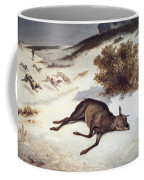 Hind Forced Down In The Snow Coffee Mug by Gustave Courbet