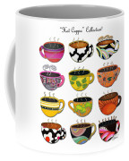 Hot Cuppa Whimsical Colorful Coffee Cup Designs By Romi Coffee Mug by Megan Duncanson