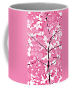 Hot Pink Leaves Melody Coffee Mug by Jennie Marie Schell