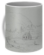 House In Mount Desert Coffee Mug by  Thomas Cole