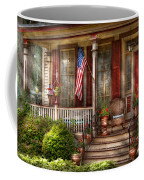 House - Porch - Belvidere Nj - A Classic American Home  Coffee Mug by Mike Savad