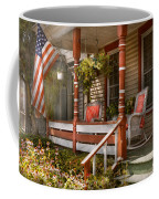 House - Porch - Traditional American Coffee Mug by Mike Savad