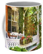 Houses - New Hope Pa - Come Stay With Us  Coffee Mug by Mike Savad