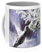Hummer Feeding Coffee Mug by Susan Leggett