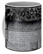 I Hate War Coffee Mug by Allen Beatty