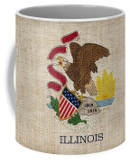 Illinois State Flag Coffee Mug by Pixel Chimp