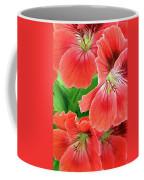 In The Garden. Geranium Coffee Mug by Ben and Raisa Gertsberg