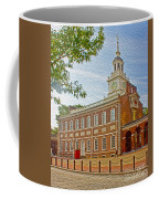 Independence Hall Philadelphia  Coffee Mug by Tom Gari Gallery-Three-Photography