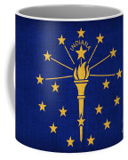 Indiana State Flag Coffee Mug by Pixel Chimp