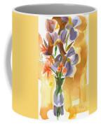 Irises With Stars Of Bethlehem Coffee Mug by Kip DeVore