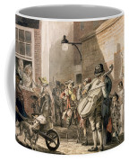 Itinerant Musicians Playing In A Poor Coffee Mug by Paul Sandby