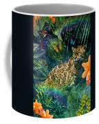 Jaguar Meadow Coffee Mug by Alixandra Mullins