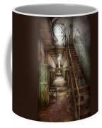 Jail - Eastern State Penitentiary - Down A Lonely Corridor Coffee Mug by Mike Savad