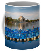 Jefferson Memorial And Paddle Boats Coffee Mug by Jerry Fornarotto