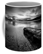 Jetty To Castle Stalker Coffee Mug by Dave Bowman