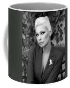 Lady Of Solitude Bw Palm Springs Coffee Mug by William Dey