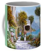 Lake Como-la Passeggiata Al Lago Coffee Mug by Guido Borelli