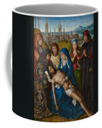 Lamentation With Saint John The Baptist And Saint Catherine Of Alexandria Coffee Mug by Master of the Legend of Saint Lucy