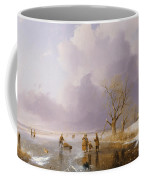 Landscape With Frozen Canal Coffee Mug by Remigius van Haanen