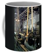 Large Lathe In Machine Shop Coffee Mug by Susan Savad