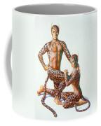 Leopard People Coffee Mug by Andrew Farley
