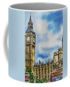 London England Big Ben Coffee Mug by Irina Sztukowski