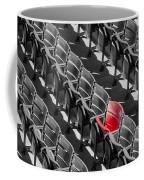 Lone Red Number 21 Fenway Park Bw Coffee Mug by Susan Candelario