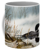 Loons Misty Shore Coffee Mug by James Williamson