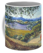 Lula Cat Under The Oak Tree In Autumn Coffee Mug by Asha Carolyn Young