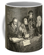 Luther Melancthon Pomeranus And Cruciger Translating  Coffee Mug by English School