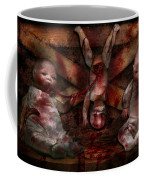 Macabre - Dolls - Having A Friend For Dinner Coffee Mug by Mike Savad