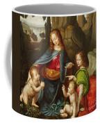 Madonna Of The Rocks Coffee Mug by Leonardo da Vinci