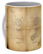 Magneto System Blueprint Coffee Mug by James Christopher Hill