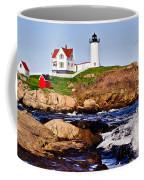 Maine's Nubble Light Coffee Mug by Mitchell R Grosky