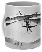 Man Gliding In 1883 Coffee Mug by Underwood Archives