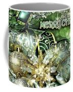 Merry Christmas Green Coffee Mug by Mo T