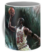 Michael Jordan Coffee Mug by Ylli Haruni