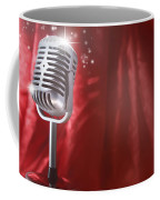 Microphone Coffee Mug by Les Cunliffe
