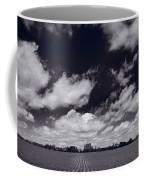 Midwest Corn Field Bw Coffee Mug by Steve Gadomski