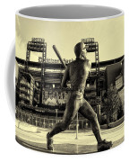 Mike Schmidt At Bat Coffee Mug by Bill Cannon