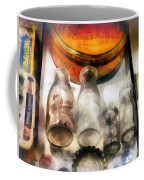 Milk Bottles In Dairy Case Coffee Mug by Susan Savad