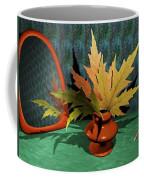 Mirror And Leaves Coffee Mug by Anastasiya Malakhova