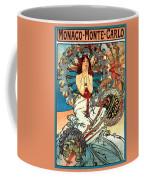 Monaco Monte Carlo Coffee Mug by Alphonse Maria Mucha