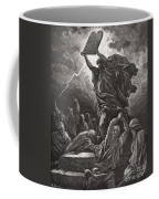 Moses Breaking The Tablets Of The Law Coffee Mug by Gustave Dore