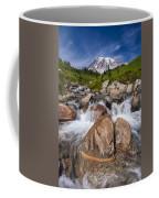 Mount Rainier Glacial Flow Coffee Mug by Adam Romanowicz